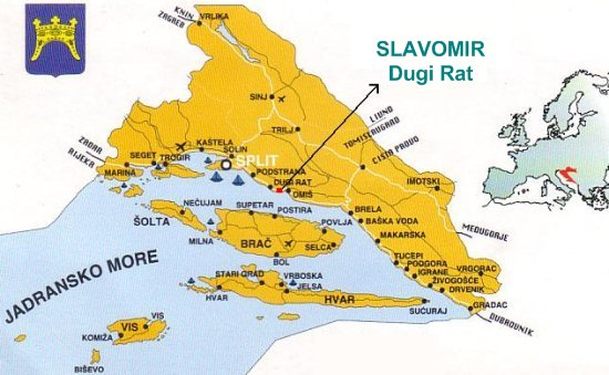House Slavomir Our Location Dugi Rat Dalmatia Croatia